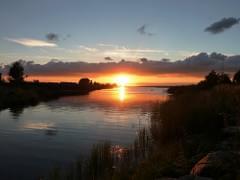 Kaunis juulikuu päikeseloojang
