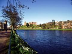 River Ness and Inverness Castle from Ness Walk Inverness Scotland [EXPLORED]
