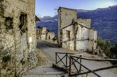 Gairo Vecchio, Sardinia, Italy - Road
