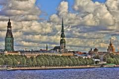 Riga, Daugava River, Latvia