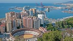 View of the Port of Malaga from Gibralfaro