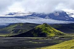 Glaciers near Landmannalaugar, Iceland