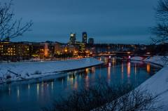 Vilnius, Lithuania winter evening 2015