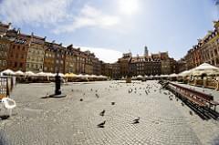 Old town square in Warszawa