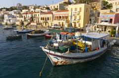 Greek island early morning
