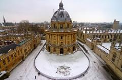 Oxford snow scene