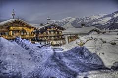 Ski landscape in Kitzbuhel Austria