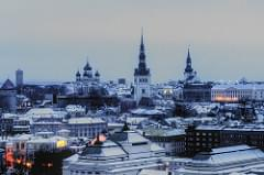 winter morning in tallinn