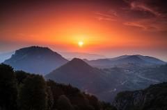 Sunset in the Balkans