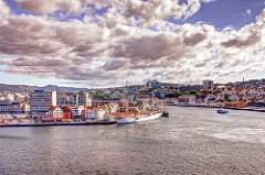 Stavanger, Norway - Eurdam leaving harbor - -  IMG_1625_6_7_fused_tonemapped_filtered