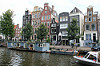 Houses and houseboats on Herengracht